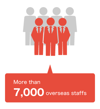 More than 7,000 overseas staffs